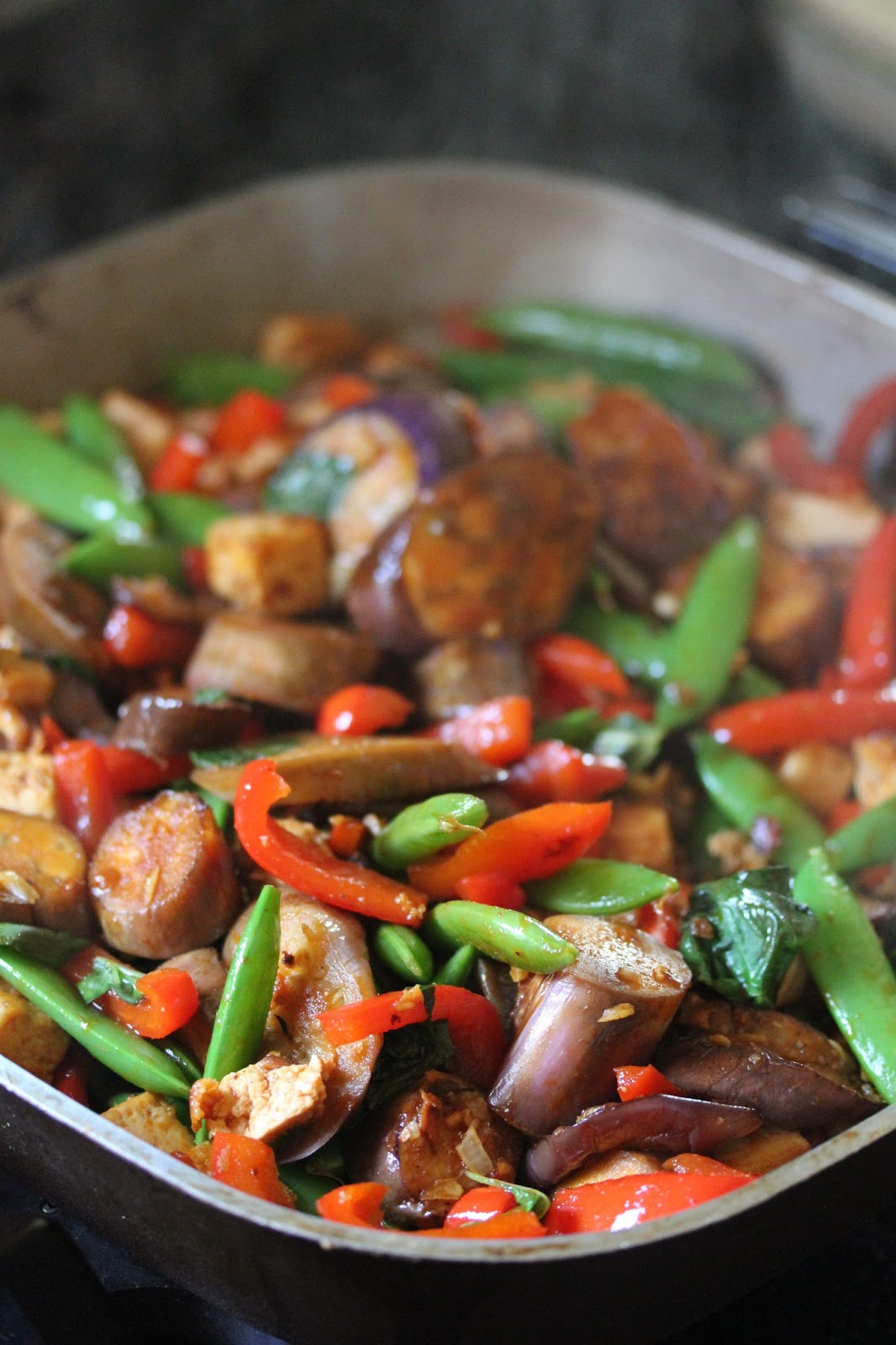 Kitchen Grrrls.: Vegan Tofu Veggie Stir-Fry