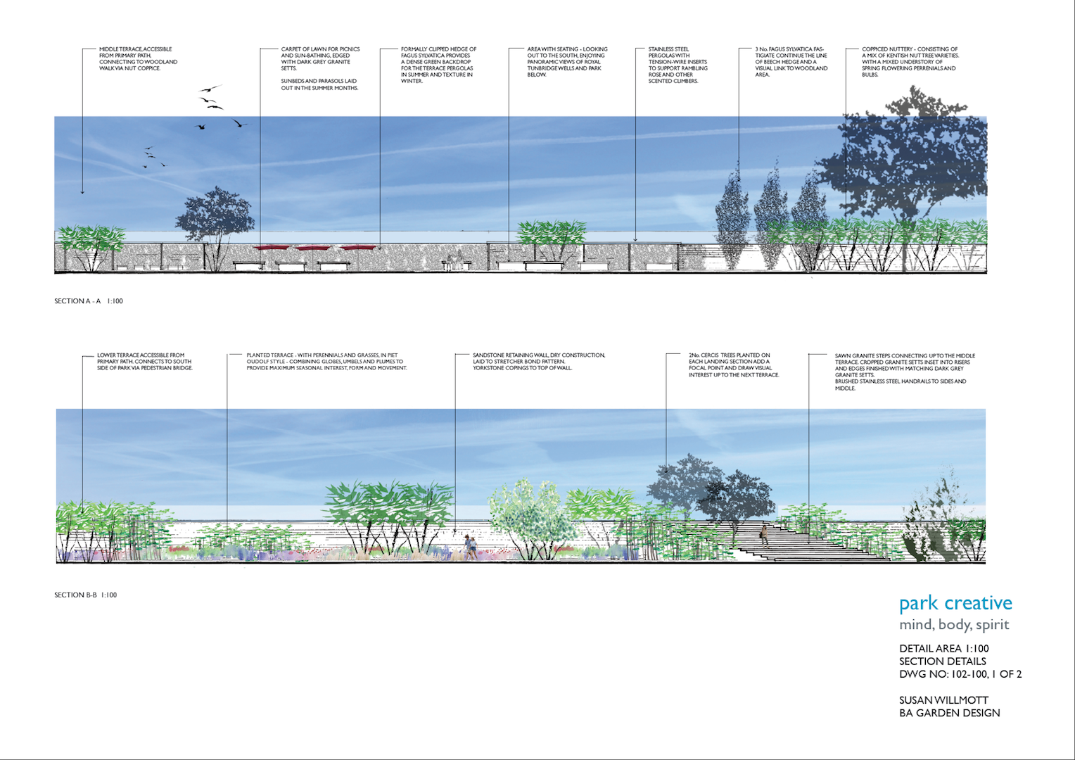 Landscape Architecture Section Drawings The