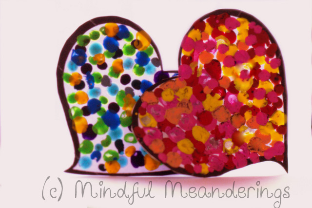 ValentineHearts 2 | 3D Melted Crayon Heart Card   Collaborative HeArt Project | Valentines Day Crafts #Age5 7
