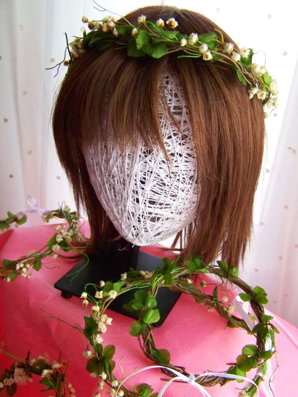 Coronas de Novia con Flores Preservadas