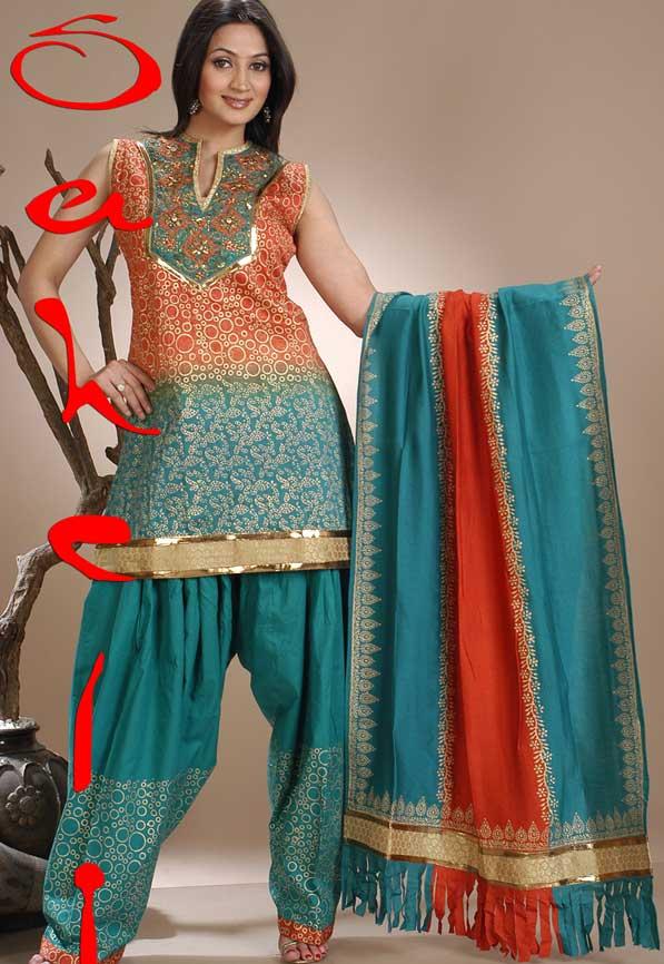 Patiala Salwar Kameez Neck Designs