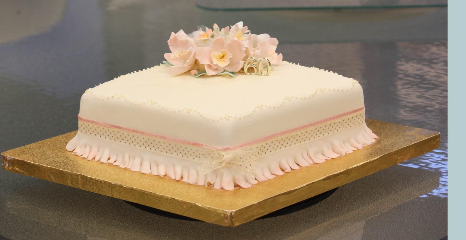 CraftDee Donna 60th Anniversary Cake