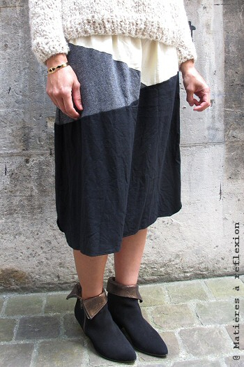 Jupe longue laine et coton Elsa Esturgie