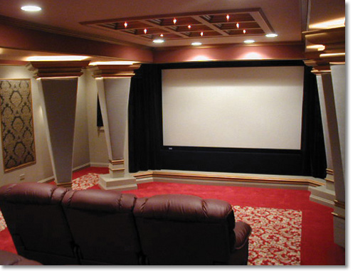 Home Theater Decorating on Decorating Remodelling  Home Movie Theater Design Along With Home