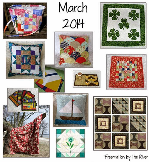 March quilting projects at Freemotion by the River