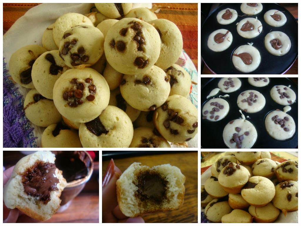 Panquecitos de Hot Cake-plátano-nutella