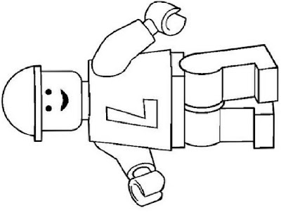 LEGO Man Printable Coloring Pages