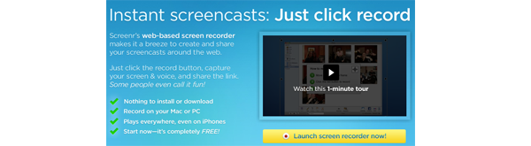 Screenr : A Web Based Screencast Tool