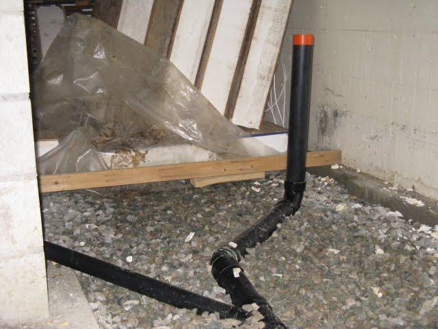 Notre maison octobre 2011 for Plomberie salle de bain sous sol