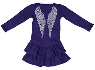 Angel wings skater dress, angel wings, funky kids clothes, stardust, www.emmysmummy.com