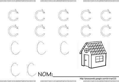 Caligrafia de vogais e consoantes