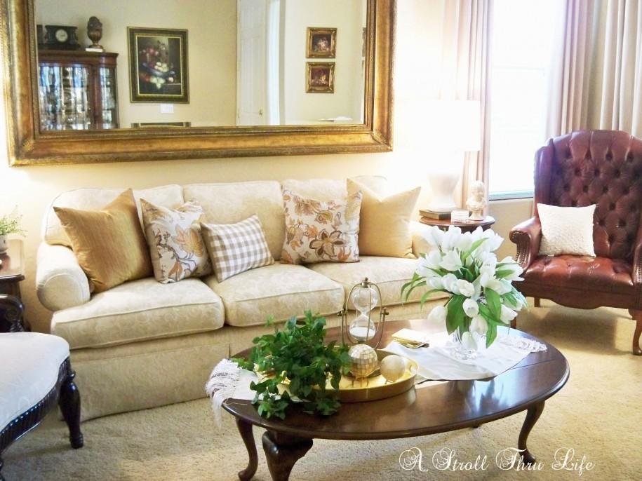 W perfekcyjnym domu lustro w salonie for Design your own living room online free