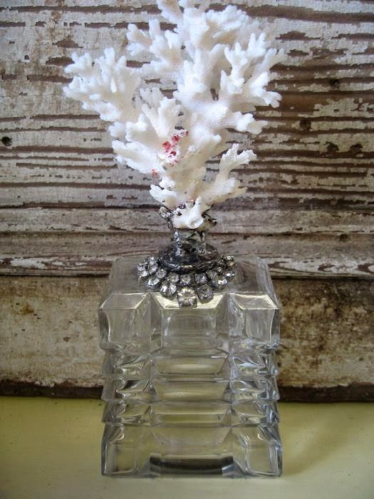 Soldered coral perfume decanter by The Pickled Hutch