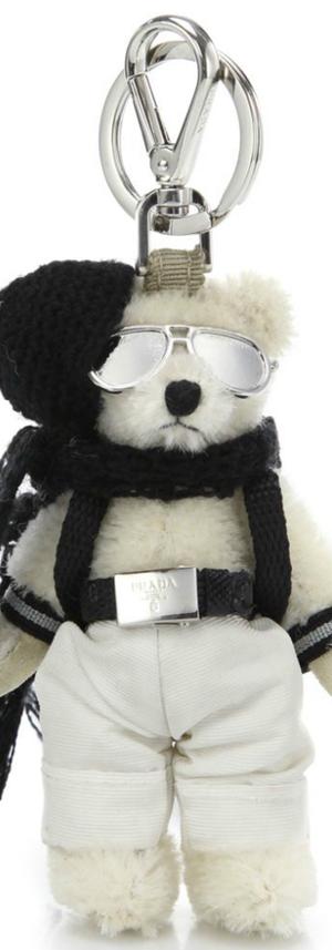 Prada Franz Bear Faux Fur Keychain