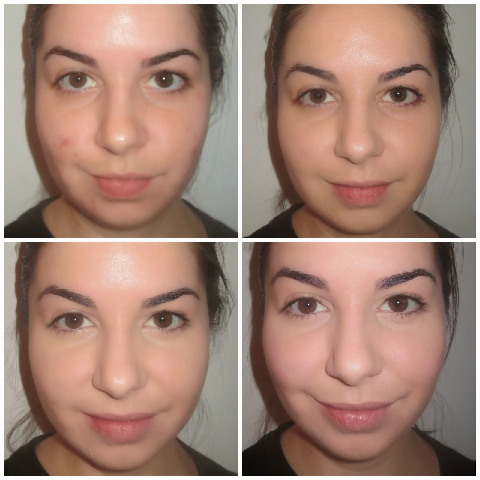 a picture of Rimmel BB Cream Matte Before & After