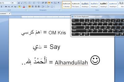 Menulis arab di word6