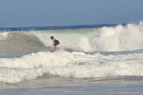 Dee Why beach boy surfing