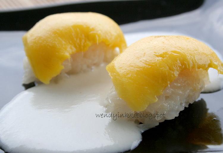 Table For 2 Or More Thai Mango Rice Sushi Mango