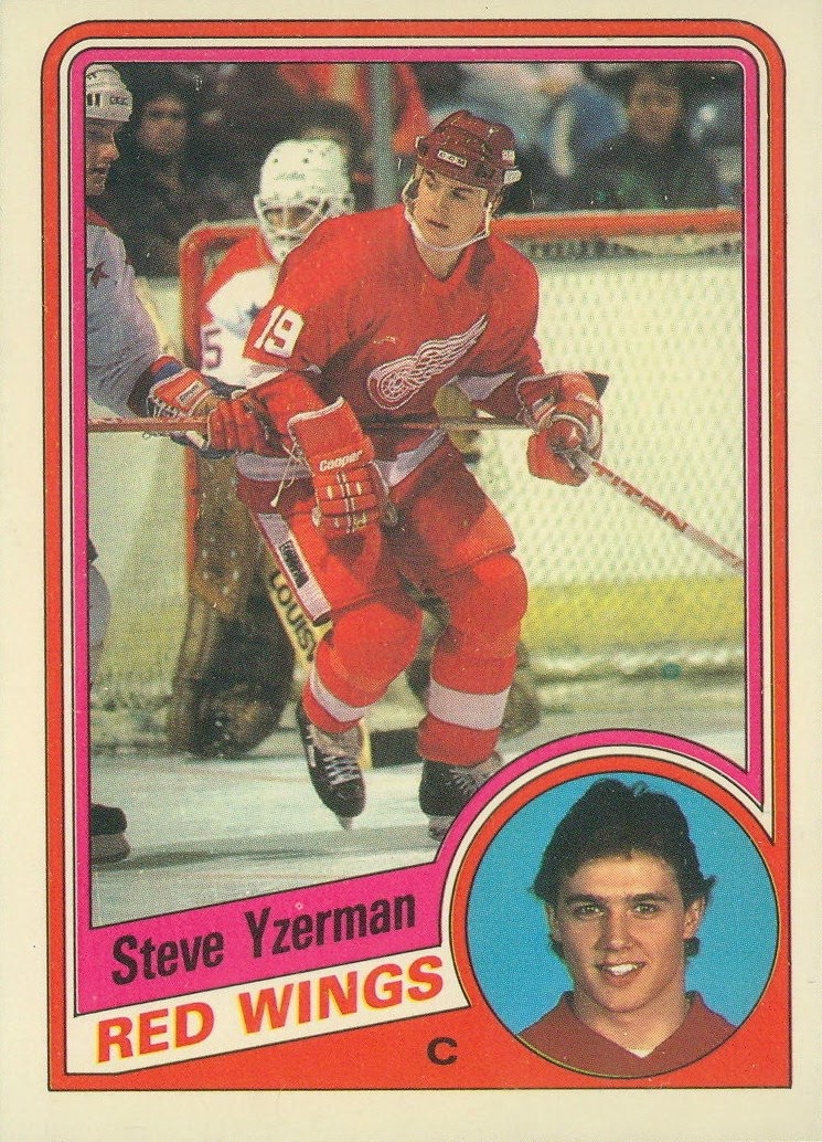 steve yzerman detroit red wings 1984-85 o-pee-chee rookie card