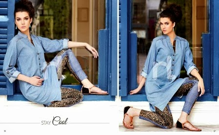 Nishat Linen Denim Tunics