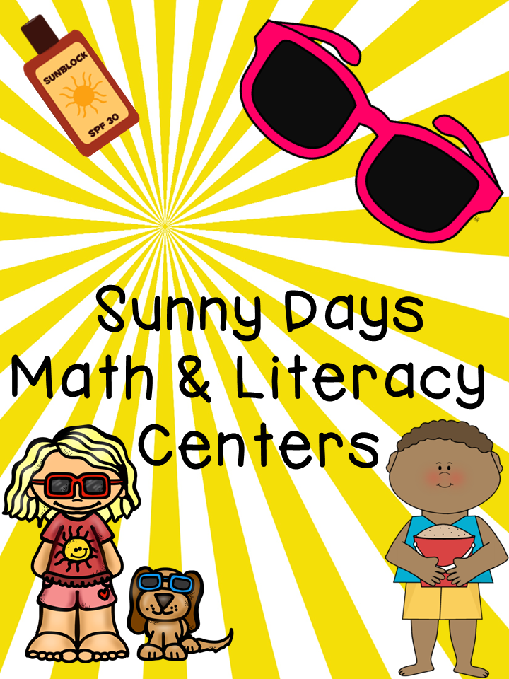 http://www.teacherspayteachers.com/Product/Sunny-Days-Math-and-Literacy-Centers-1312578