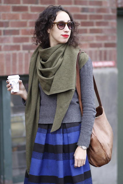 Lenna Peterson Military blanket scarf seattle street style fashion it's my darlin'