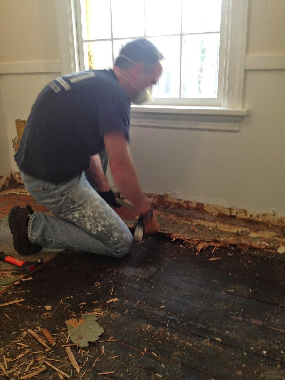 removing linoleum floors - How to restore wood floors