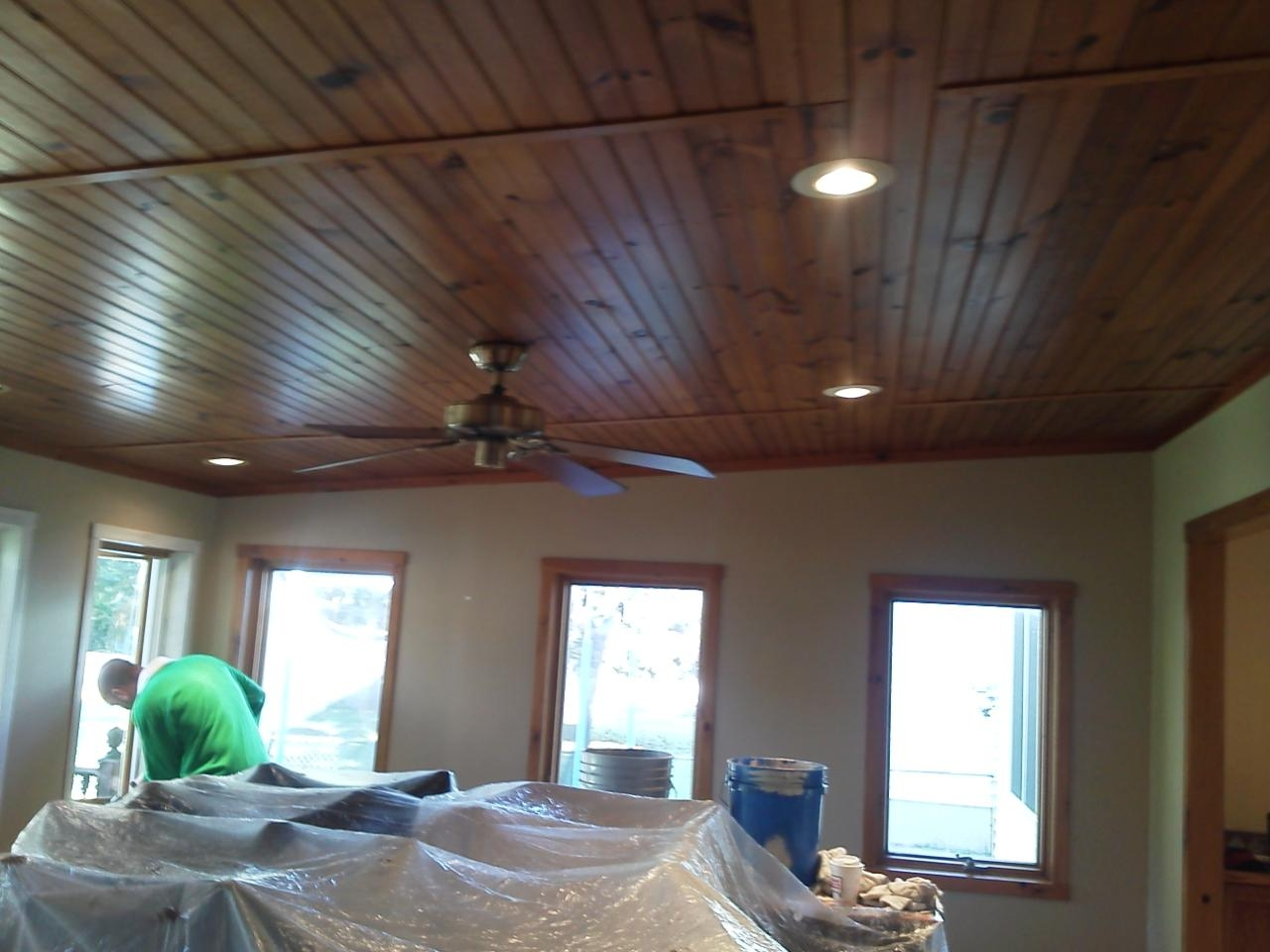 Painted Pine Ceiling Jr Painting
