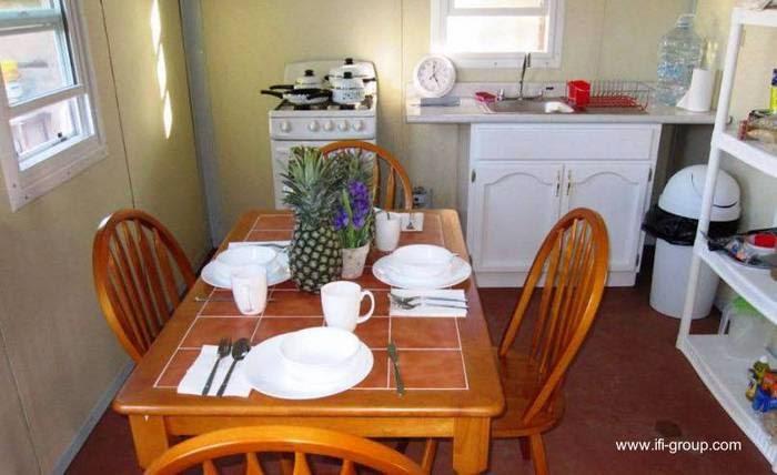 Cocina comedor de casa de bajo costo en México