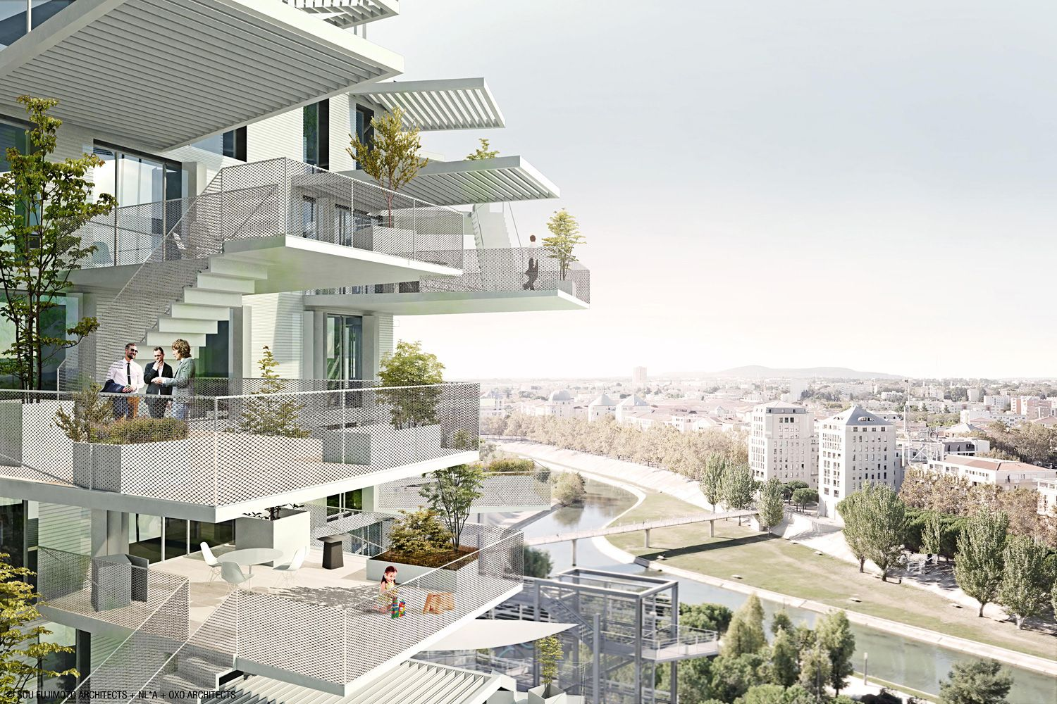 A f a s i a 29 sou fujimoto oxo laisn for Montpellier architecture