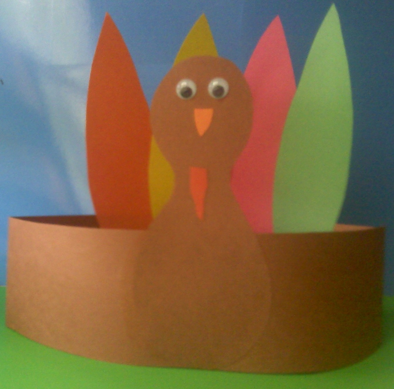 crafts for preschoolers turkey headband