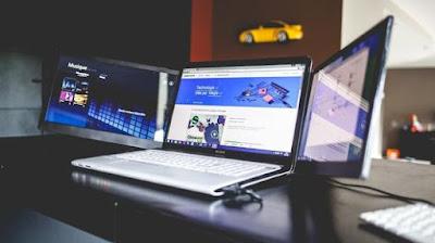 Sliden'Joy Memberikan Laptop Dua Layar Portabel Tambahan