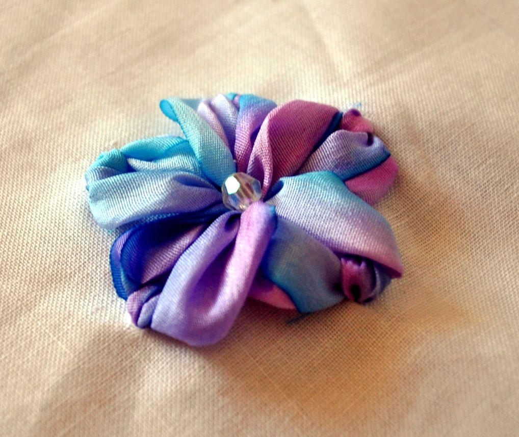 Kelly Casanova Silk Ribbon Flower Tutorial