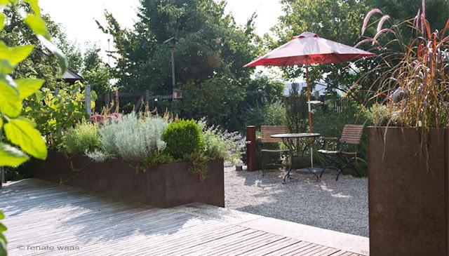 Gartenplanung Vorgarten - Blick vorher nachher  vorher-nachher Bilder