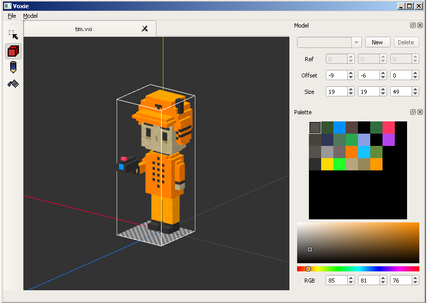 F l a s w f open source and free voxel editors for 3d editor online