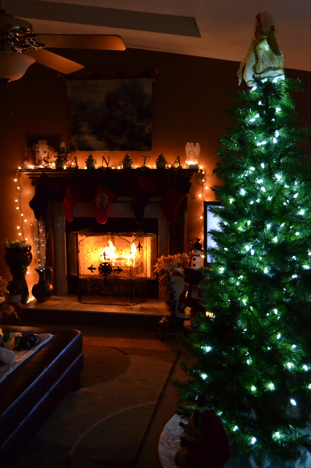 aside from my bedroom one of my favorite places to spend my nights is my living room i love lighting a fire in the fireplace and curling up with a big - Simply Having A Wonderful Christmas Time