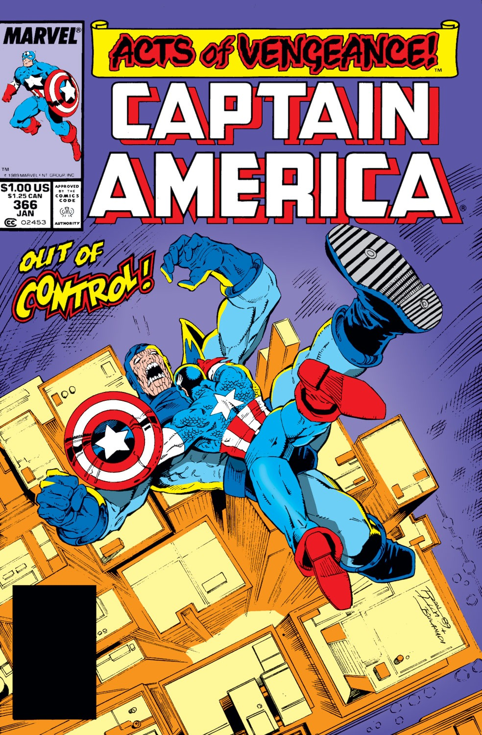 Captain America (1968) Issue #366 #299 - English 1