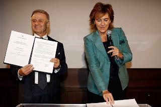 Firma Giorgina Gallo e Corrado Clini