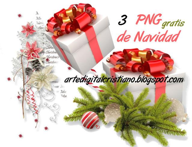 3 imágenes png de motivos navideños