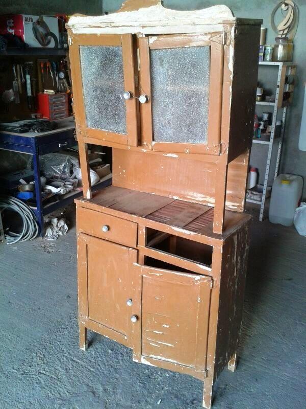 El taller de la madera alacena for Cocinas rusticas segunda mano