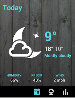 screenshot of 1Weather on my phone