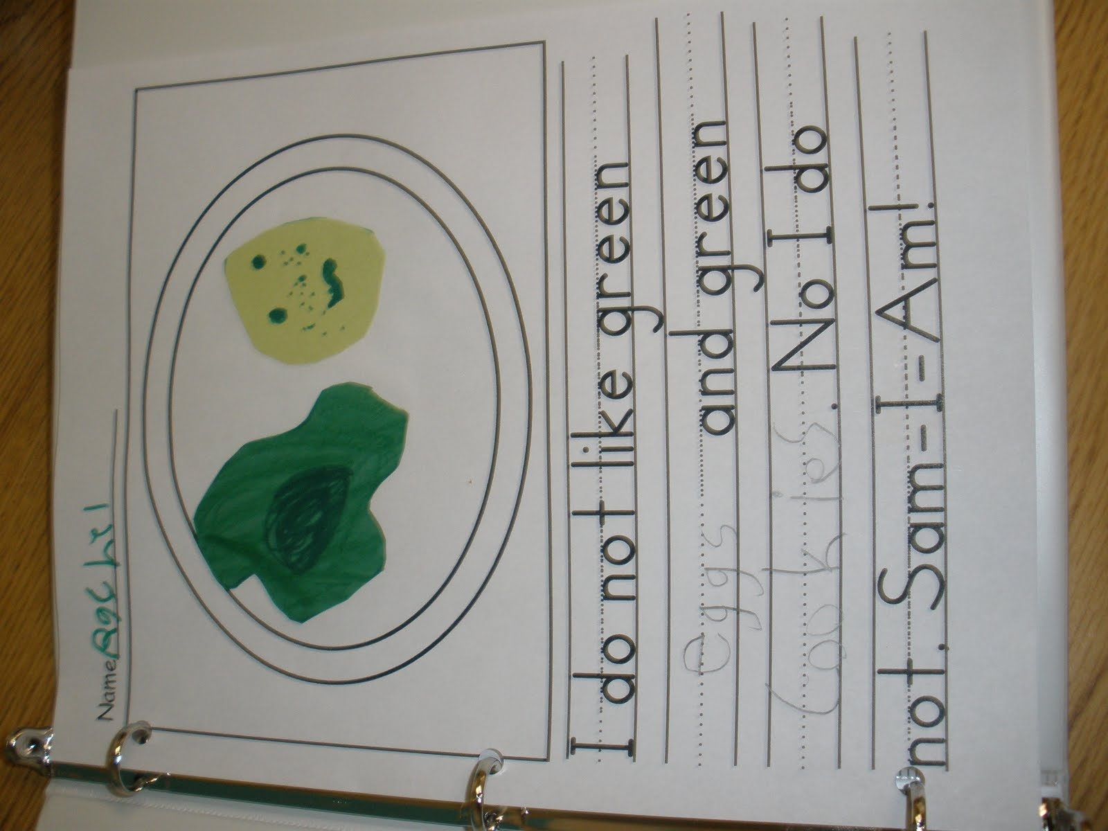 My Green Eggs And Ham Paper