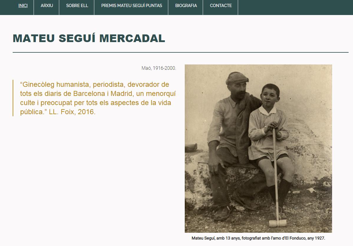 Web Mateu Seguí Mercadal