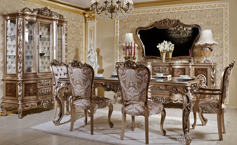 Luxury dining room furniture sets furniture design blogmetro for Classic dining room furniture