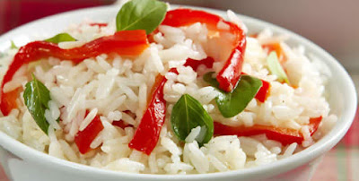Arroz com pimentão light