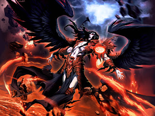 lucifer anime wallpaper angle white dark wing