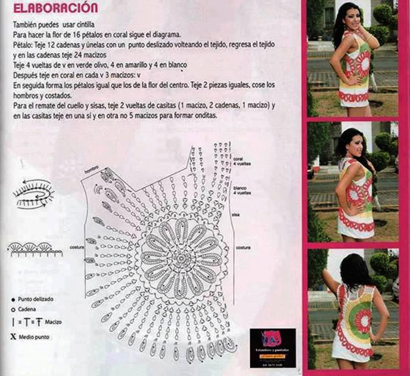 Blusa Coral A Crochet Patrones Gratis   Mejores Vestidos de Novia