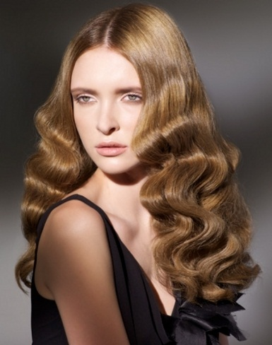 Glam Finger Waves Hairstyle 2014