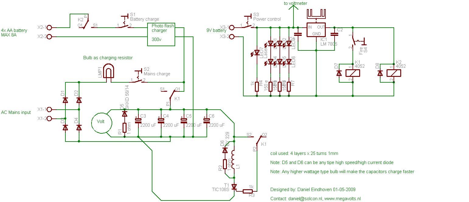 Coilgun Efficiency Fotos Schematic For Mark 3
