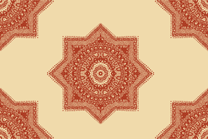 Ethnic Red Moroccan Pattern  by Haidi Shabrina